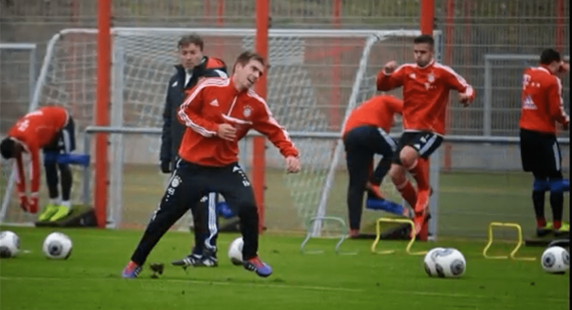 Bayern de Munich entrenamiento con tirante musculador RF Barcelona