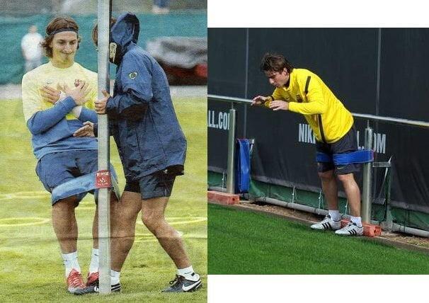 Ibraimovich y tirante musculador RF Barcelona