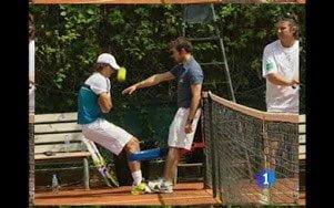 Rafa Nadal tirante musculador RF Barcelona